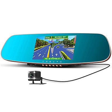 dubbele lens hd intelligente gesproken navigatie achteruitkijkspiegel tachograaf