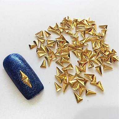 100 Negle smykker Metallic Klassisk Høj kvalitet Daglig Nail Art Design