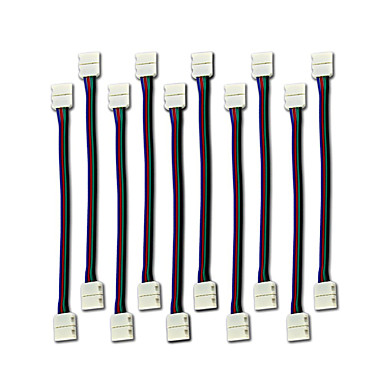 10st leidde 5050 rgb strip licht connector 4 conductor 10 mm brede strook aan jumper strippen