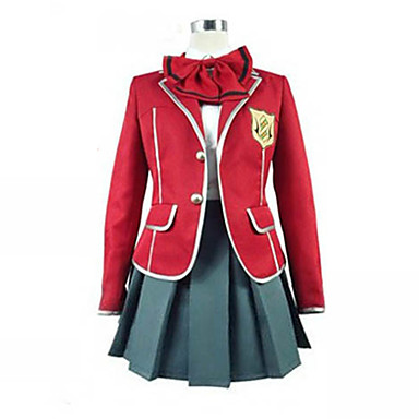 Inspirat de Guilty Crown Inori Yuzuriha Anime Costume Cosplay Costume Cosplay Uniforme Școlare Peteci Manșon Lung Geacă Bluză Fustă Guler