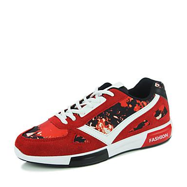 Sneakers-StofHerre-Sort Blå Rød-Fritid-Flad hæl