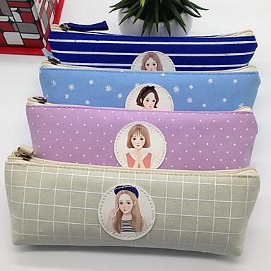 caixa de lápis triangular papelaria sul-coreano de bolsas de armazenamento de saco de cosmética para a fêmea