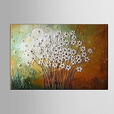 Hang-geschilderd olieverfschilderij Handgeschilderde - Abstract / Stilleven / Bloemenmotief / Botanisch Pastoraal / Modern / Europese Stijl Kangas
