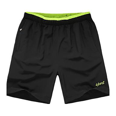 Homens Shorts de Corrida Secagem Rápida Respirável Confortável Shorts largos Calças Exercício e Atividade Física Corrida Poliéster Solto