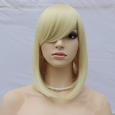 Vrouw Synthetische pruiken Zonder kap Kort Recht Blond Black Pruik Kostuumpruiken