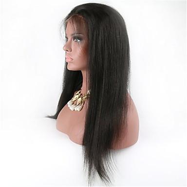 Echt haar Kanten Voorkant Pruik Gekruld 130% Dichtheid 100% handgebonden Afro-Amerikaanse pruik Natuurlijke haarlijn Kort Medium Lang