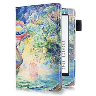 Capinha Para Amazon Capa Proteção Completa / Tablet Cases Pintura à Óleo Rígida PU Leather para