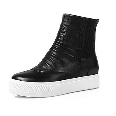 Bootsit-Platform-Naiset-Nahka-Musta-Ulkoilu Rento
