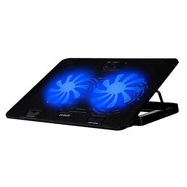 2 fans ergonomisch verstelbaar koeler cooling pad met standaard houder voor laptop notebook (geen snelheid controll)