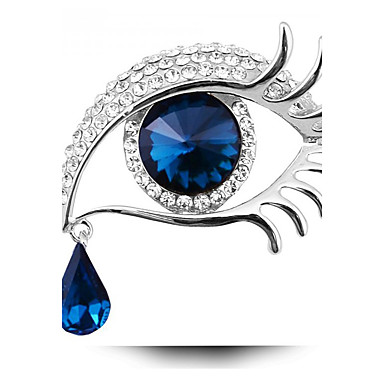 Mujer Broche - Cristal damas, Personalizado, Moda Broche Joyas Azul / Oro / Negro / Oro / Azul Para Fiesta / Diario / Casual