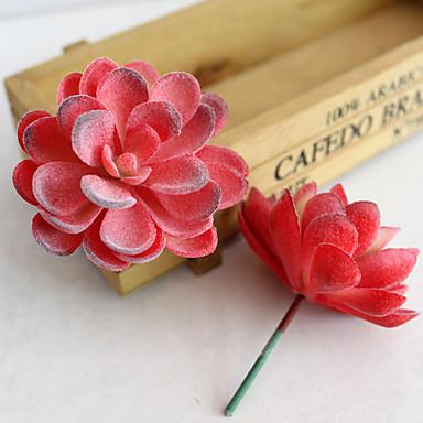 1pc 1 Afdeling Polyester / Plastik Planter Bordblomst Kunstige blomster 2.9*2.5inch/7.5*6.5CM