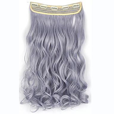 leikkeen hiusten pidennykset 24inch 60cm 120g 5clips pitkät suorat synteettinen hiukset leikkeen synteettisten hiusten pidennys 4110 #