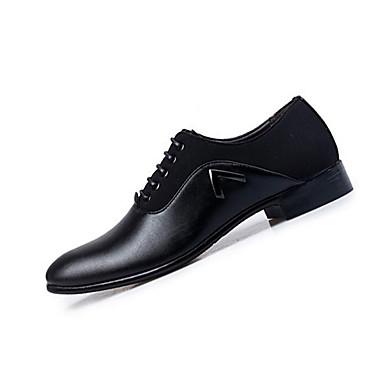 Miehet kengät Nahka Kevät Syksy Comfort muodollinen Kengät Oxford-kengät Solmittavat Käyttötarkoitus Kausaliteetti Musta Ruskea