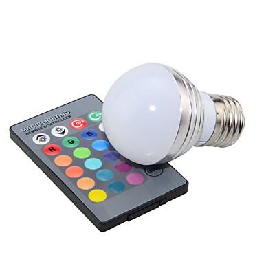 E14 GU10 E26/E27 LED-globepærer A50 1 Højeffekts-LED 200 lm RGB Dæmpbar Fjernstyret Dekorativ Vekselstrøm 85-265 V 1 stk.