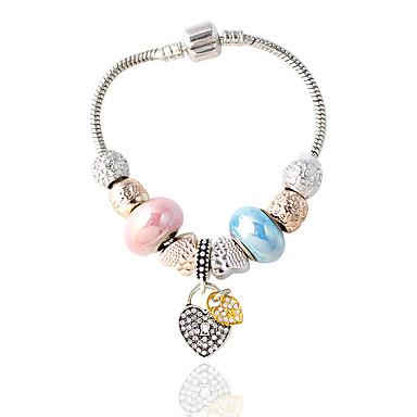 Dames Armbanden met ketting en sluiting PERSGepersonaliseerd Legering Ronde vorm Paars Blauw Roze Rood/blauw Zilver/Grijs Sieraden Voor