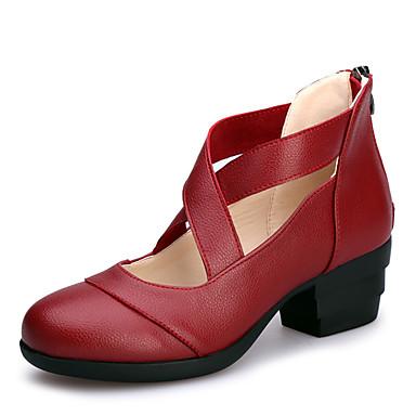 Niet aanpasbaar-Dames-Dance Schoenen(Zwart / Rood / Wit) - metCuba-hak- enModern