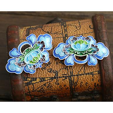 DIY smykker blå blomst stil kobber charme