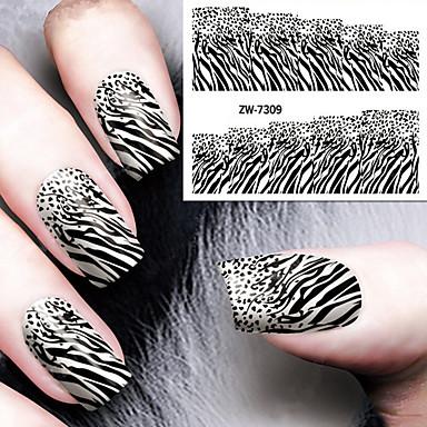 1 pcs Etiqueta engomada de la transferencia arte de uñas Manicura pedicura Clásico Diario