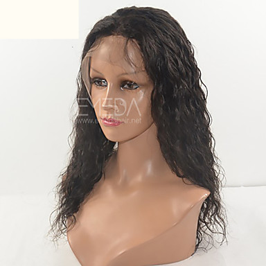 Human Hair Full Lace Lace Front Wig Curly 130% Density 100% Hand Tied African American Wig Natural Hairline Short Medium Long Women's