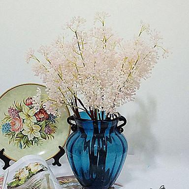 1 1 Afdeling Polyester / Plastik Planter Bordblomst Kunstige blomster 27.1inch/69cm