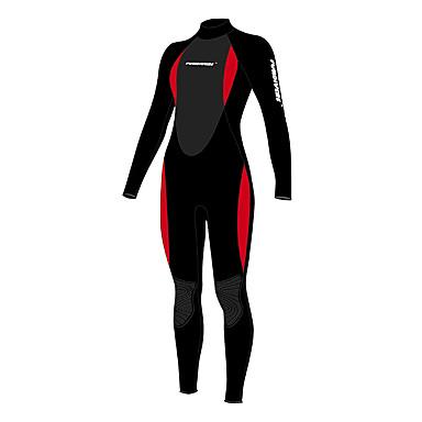 Mulheres 3mm Macacão de Mergulho Longo Design Anatômico Neoprene Fato de Mergulho Manga Curta Shorts Roupas de Mergulho Calças - Mergulho