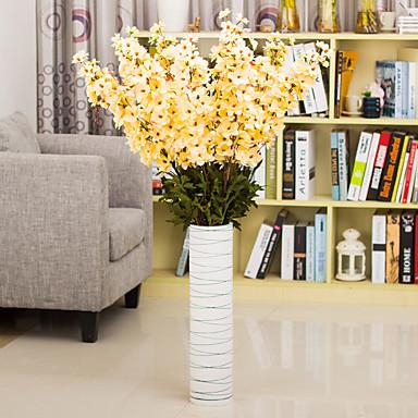 1 1 Tak Polyester / Kunststof Riddersporen Bloemen voor op de grond Kunstbloemen 42.24inch/120cm