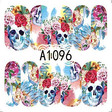 1 Neglekunst klistremerke Hel Negle Tipper Blomst Tegneserie Smuk Sminke Kosmetikk Neglekunst Design