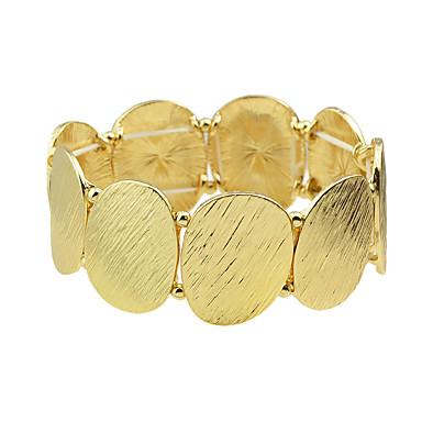 Damen Strang-Armbänder Einstellbar Aleación Kreisförmig Schmuck Party Alltag Modeschmuck Golden