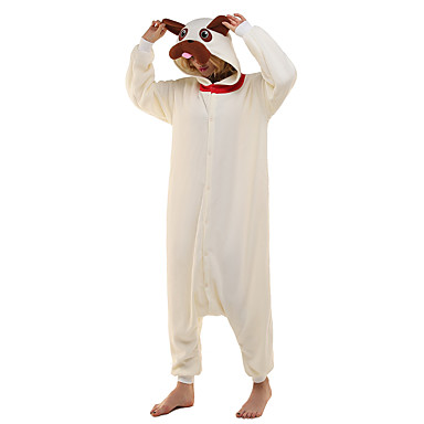Kigurumi-pyjamas Mops Onesie-pyjamas Kostume Polarfleece Beige Cosplay Til Nattøj Med Dyr Tegneserie Halloween Festival / Højtider