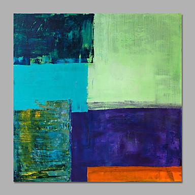 Handgeschilderde Abstract Vierkant,Modern Eén paneel Canvas Hang-geschilderd olieverfschilderij For Huisdecoratie
