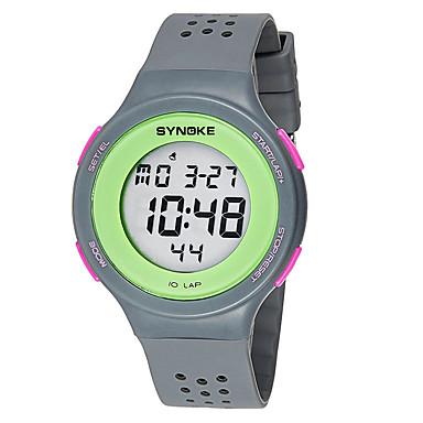 Herre Par Modeur Armbåndsur Digital Watch Quartz Digital LED / Gummi Bånd Afslappet Sort Blåt Rød Gråt