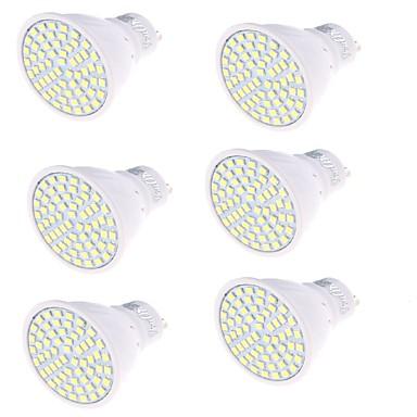 GU10 Lâmpadas de Foco de LED MR16 60 leds SMD 2835 Decorativa Branco Quente Branco Frio 350lm 3000/6000K AC 220-240V
