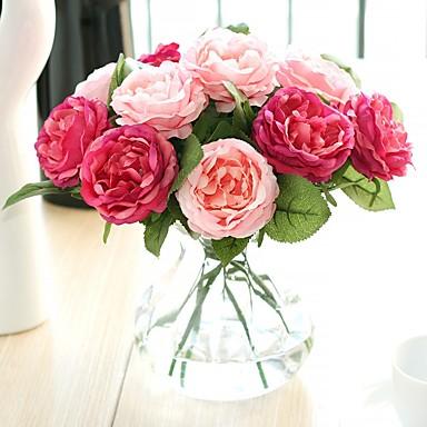 Umělé květiny 1 Větev evropský styl Růže Květina na stůl