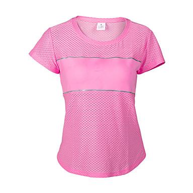 Damen Laufshirt Außen tragbar Atmungsaktiv Komfortabel Schweißableitend Ultra-leichter Stoff Antibakteriell Leichtes Material Antistatisch