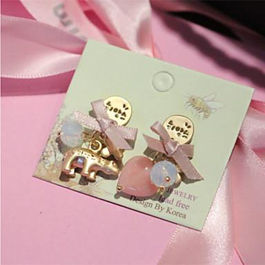 Dames Kristal Hart Modieus Kristal Strikvorm Hart Sieraden Dagelijks Causaal mielitietty Kostuum juwelen