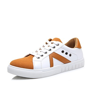 Sneakers-Kanvas-Komfort-Herre-Sort Blå Gul Grå-Udendørs Fritid Sport-Flad hæl