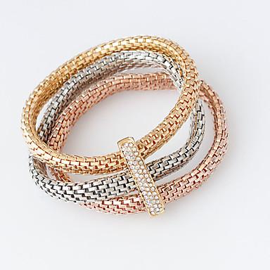 Mulheres Enrole Pulseiras - Fashion Pulseiras Prata / Dourado / Ouro Rose Para