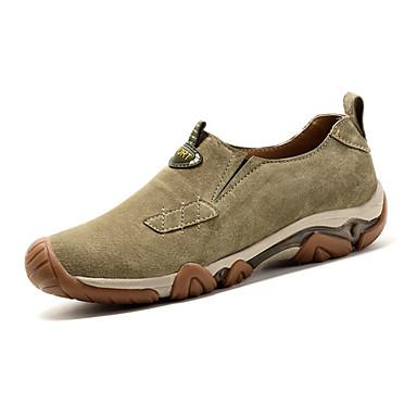 Heren Sneakers Herfst Winter Comfortabel Varkensleer Buiten Casual Platte hak Veters Blauw Kaki