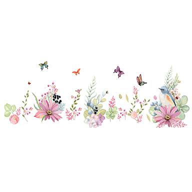 Animales Romance Florales Pegatinas de pared Calcomanías de Aviones para Pared Calcomanías Decorativas de Pared, CLORURO DE POLIVINILO