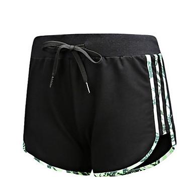 Dames Hardloopshorts Ademend Comfortabel Broeken/Regenbroek/Overbroek Training&Fitness Hardlopen Katoen Chinlon Ruimvallend Zwart Blauw