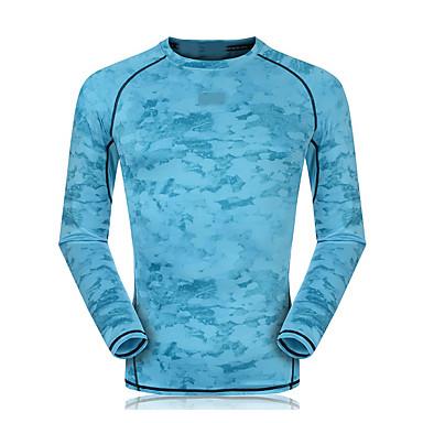 Unisex Hardloopshirt Lange mouw Sneldrogend Ademend Compressie Zweetafvoerend Sweatshirt Kleding Bovenlichaam voor Training&Fitness