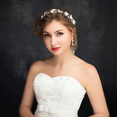 Vrouwen Bloemenmeisje Licht Metaal Imitatie Parel Acryl Helm-Bruiloft Speciale gelegenheden Informeel Hoofdbanden 1 Stuk