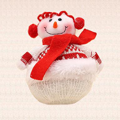 1pc Weihnachtsbaumdekoration roten Schal Schneemann Anhänger Urlaub Abendessen Partei liefert