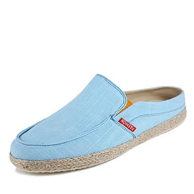 Sneakers-KunstlæderHerre-Sort Blå Hvid-Fritid-Flad hæl