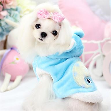 Hond Hoodies Hondenkleding Effen dier Geel Blauw Roze Katoen Kostuum Voor huisdieren Heren Dames Casual / Dagelijks