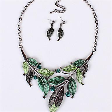 Mujer Cristal Conjunto de joyas - Cristal Vintage, Moda, Importante Incluir Collar / pendientes Morado / Verde / Azul Para Boda / Fiesta / Diario / Pendientes / Collare