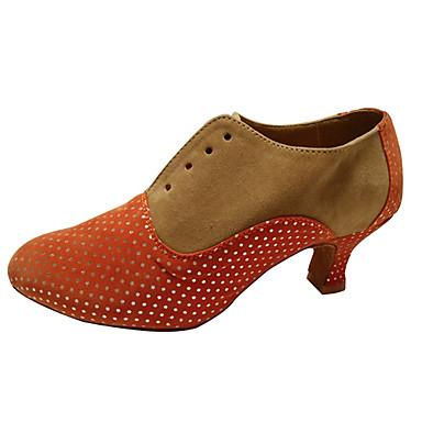 Női Modern cipők Csillogó flitter / Szintetikus / Bársony Magassarkúk / Sportcipő Glitter / Fodrozott / Ráncolt Kubai sarok Szabványos