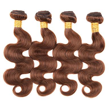 Menneskehår Vevet Brasiliansk hår Krop Bølge 12 måneder 1 Deler hår vever