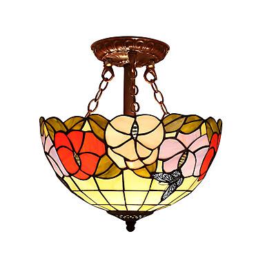 Takmonteret Baggrundsbelysning - LED designere, Tiffany, 110-120V 220-240V Pære ikke Inkluderet