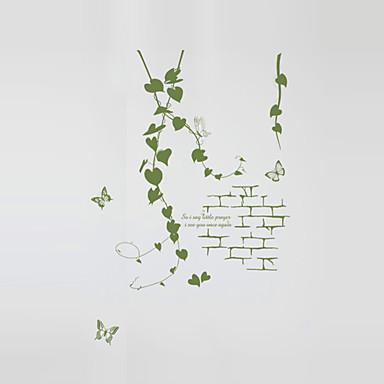 Romantik Mode Botanisch Wand-Sticker Flugzeug-Wand Sticker Dekorative Wand Sticker Haus Dekoration Wandtattoo Wand Glas / Badezimmer